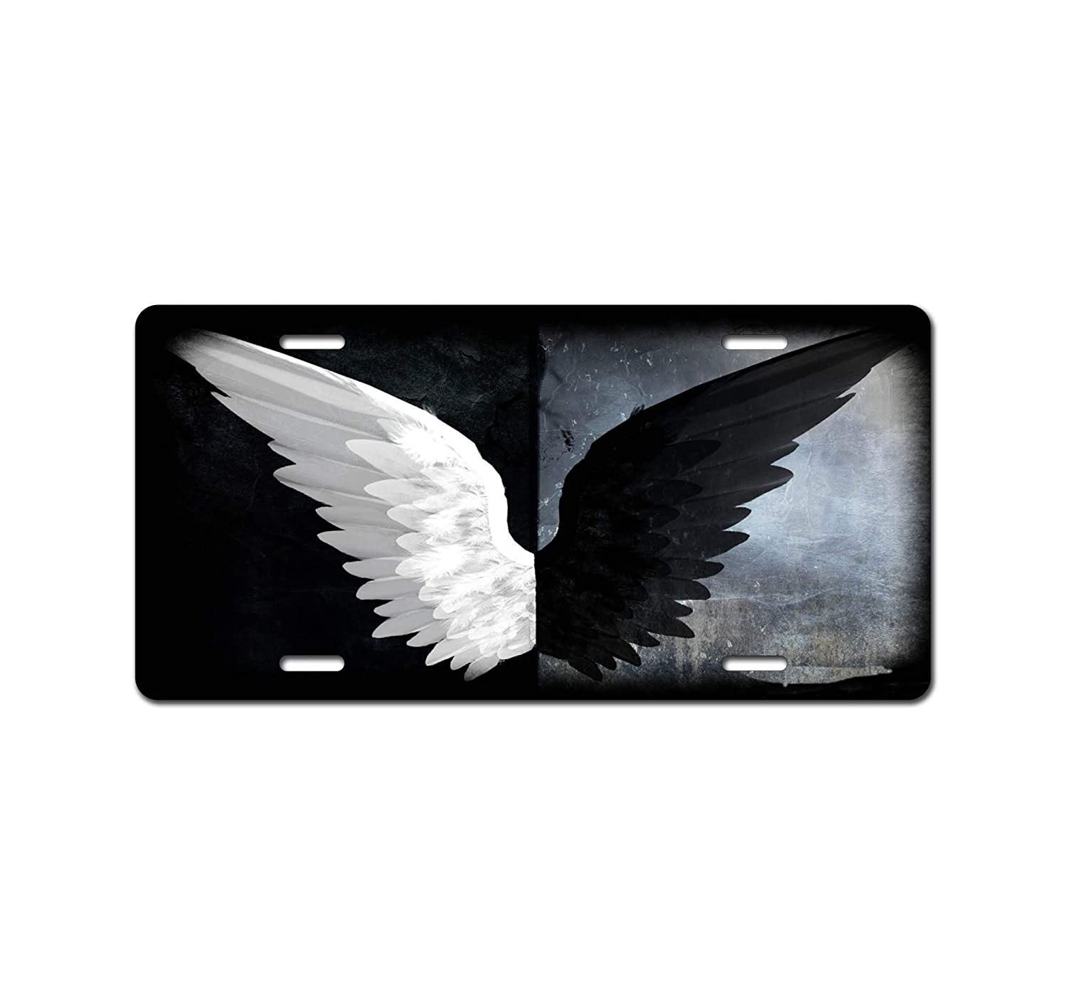 New 12 X 6 Booth Eddie Black and White Wings Art Car Accessories Metal License Plate Tin SAbstract Art Octopus Art Car Accessories Metal License Plate Sign Tag