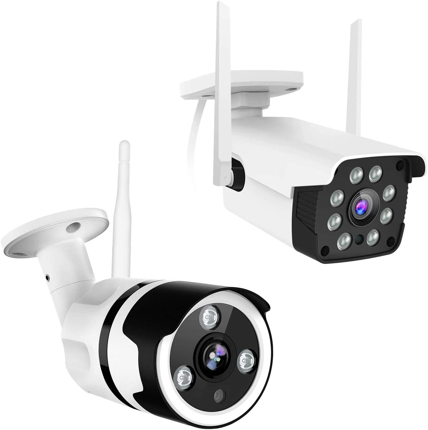 Security Camera Outdoor, 1080P WiFi Surveillance Camera for Home Security, with Night Vision, 8X Digital Zoom, A.I. Motion Detection, Instant Alert, IP66 Waterproof, 2-Way Audio, Cloud Storage/SD Card