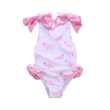 Pettgirl Niñas Traje de baño Flamingo Cross Ropa de baño de ...