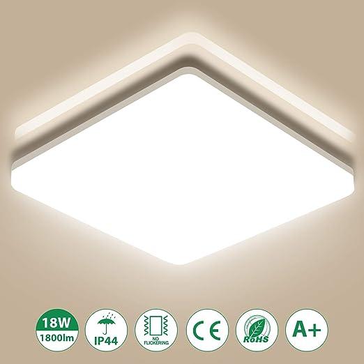 LED Deckenleuchte Deckenlampe Wohnzimmer Badleuchte Küche Leuchte 18W IP44