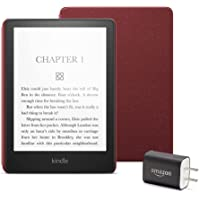 $179 » Kindle Paperwhite Essentials Bundle including Kindle Paperwhite - Wifi, Ad-supported, Amazon Leather Cover, and Power Adapter
