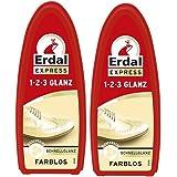 2x Erdal Express 1-2-3 Glanz Farblos - Schwamm - mit Bienenwachs