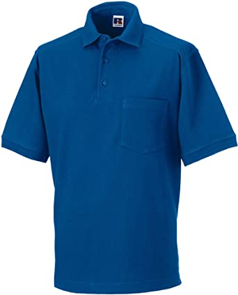 3ee34a4f New Russell Unisex Adults Heavy Duty Polo Shirt Short Sleeve Cotton Workwear  Top: Amazon.co.uk: Clothing