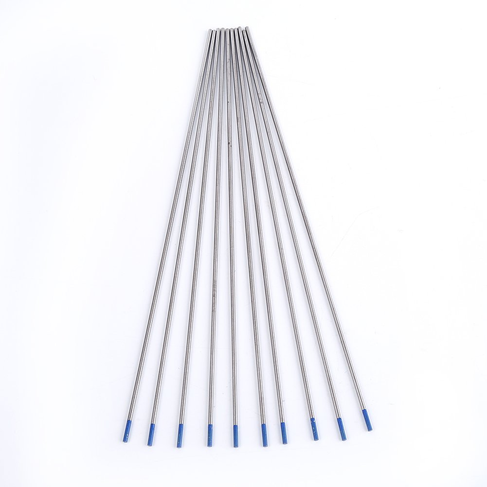 /Électrode de tungst/ène de soudage 1.0//1.6//2.4mm /Électrodes de soudage au tungst/ène Pointe bleue d/électrode lanthan/ée Bleu 1.6 * 175mm