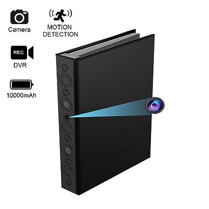 Libro oculto de la cámara espía, cámara de seguridad oculta de la detección de movimiento, ...