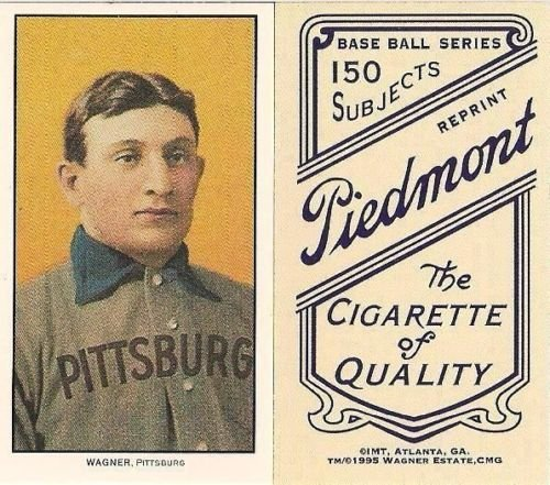 1909 #T206 Honus Wagner Piedmont Pittsburg Rookie Card IMT 1995 Wagner Estate , CMG - Mint Condition Ships in a brand new Holder ! Made popular by Wayne Gretzky (Cigarette Baseball Cards)