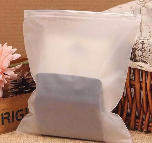 gperw - 10 Bolsas de plástico Transparentes con Cierre hermético, Bolsas de Almacenamiento Selladas, Bolsas para Ropa, Bolsas de Ropa para Viajes