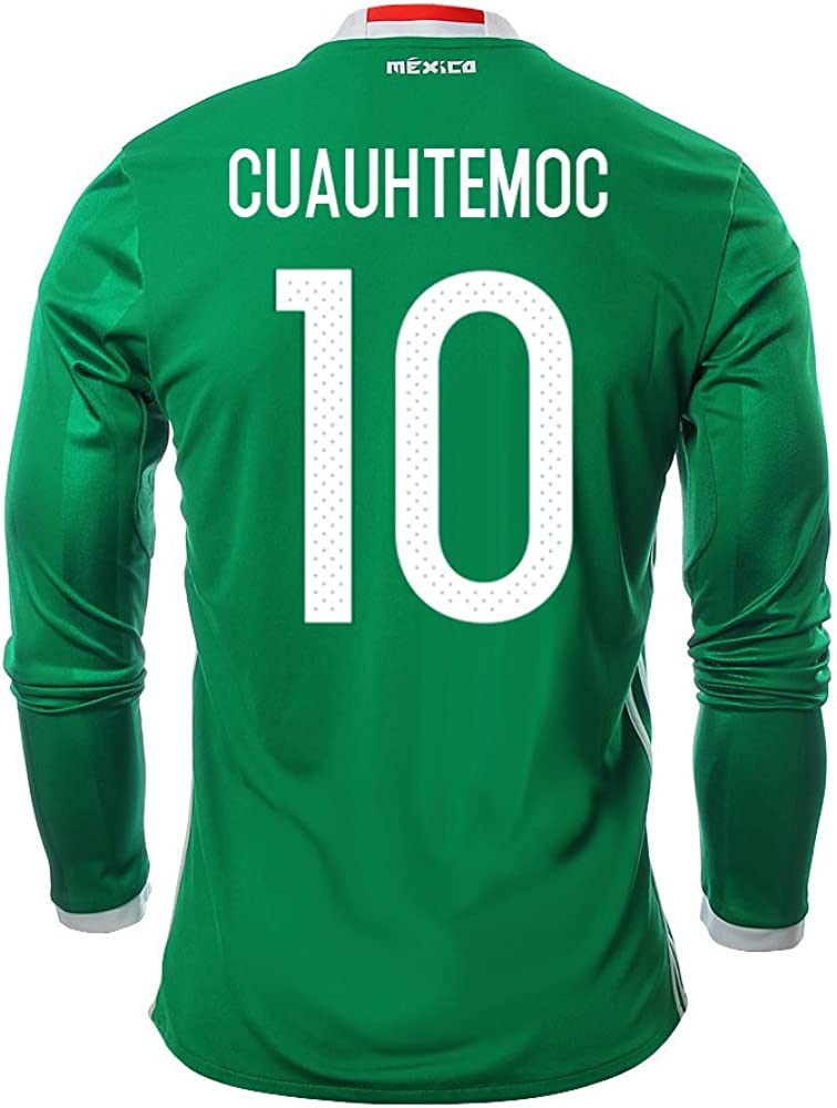 Cuauhtemoc #10 Mexico Men's Home Jersey Long Sleeve 2016 [Official Printing]