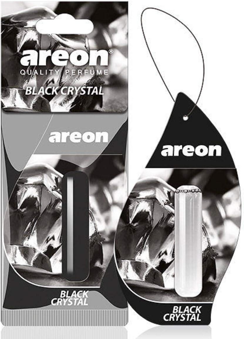 Areon Liquid Auto Parfüm Schwarz Kristall Autoduft Hängend Duftflakon Parfüm Flakon Lufterfrischer Aufhängen Anhänger Spiegel 5ml 3d Black Crystal Pack X 1 Auto