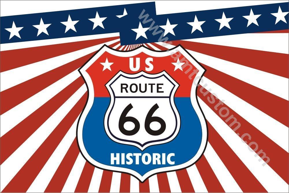Drapeau USA Route 66 Historic