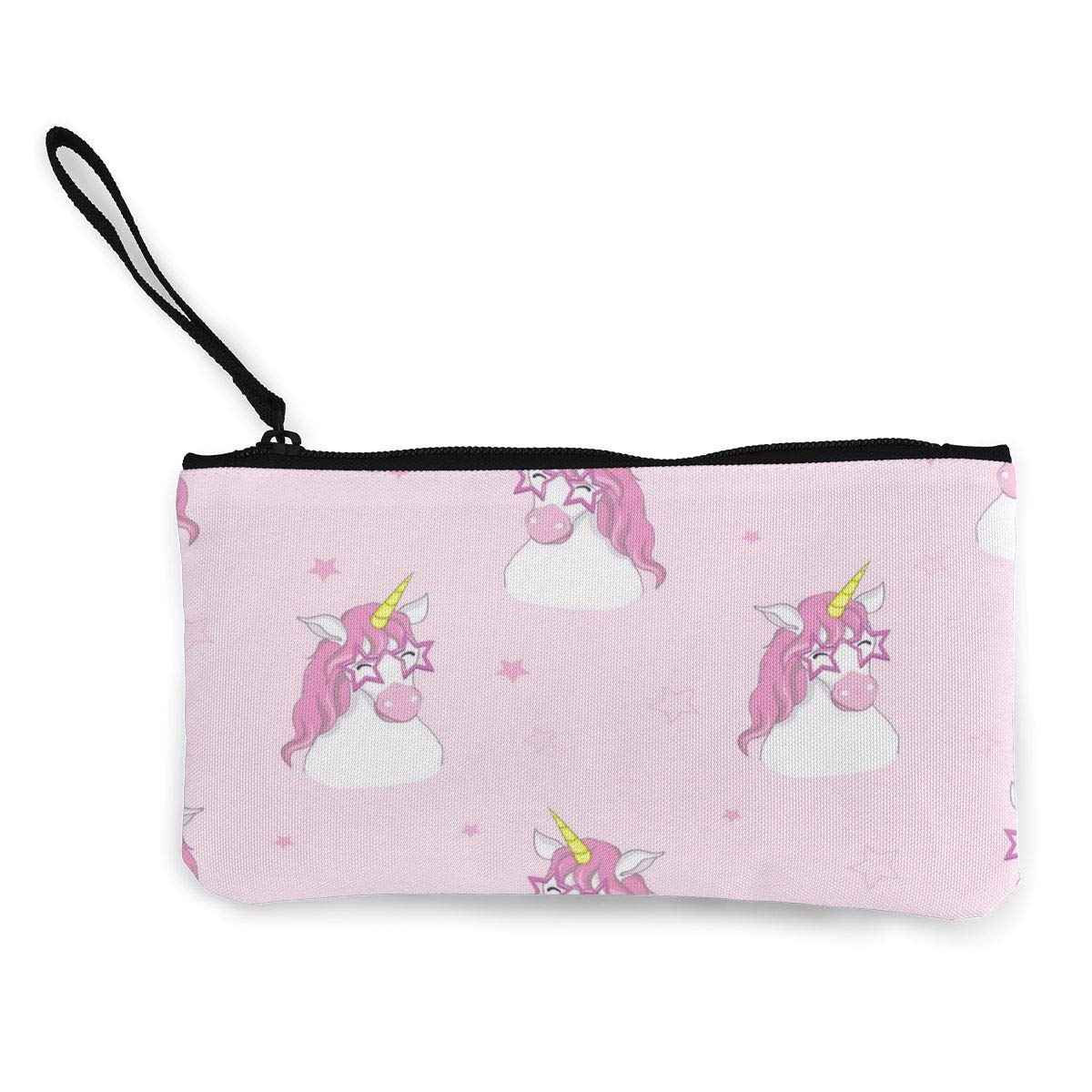 Yamini Star Glasses Flying Horse Pink Background Cute Looking Coin Purse Small and Exquisite Going Out to Carry Purse