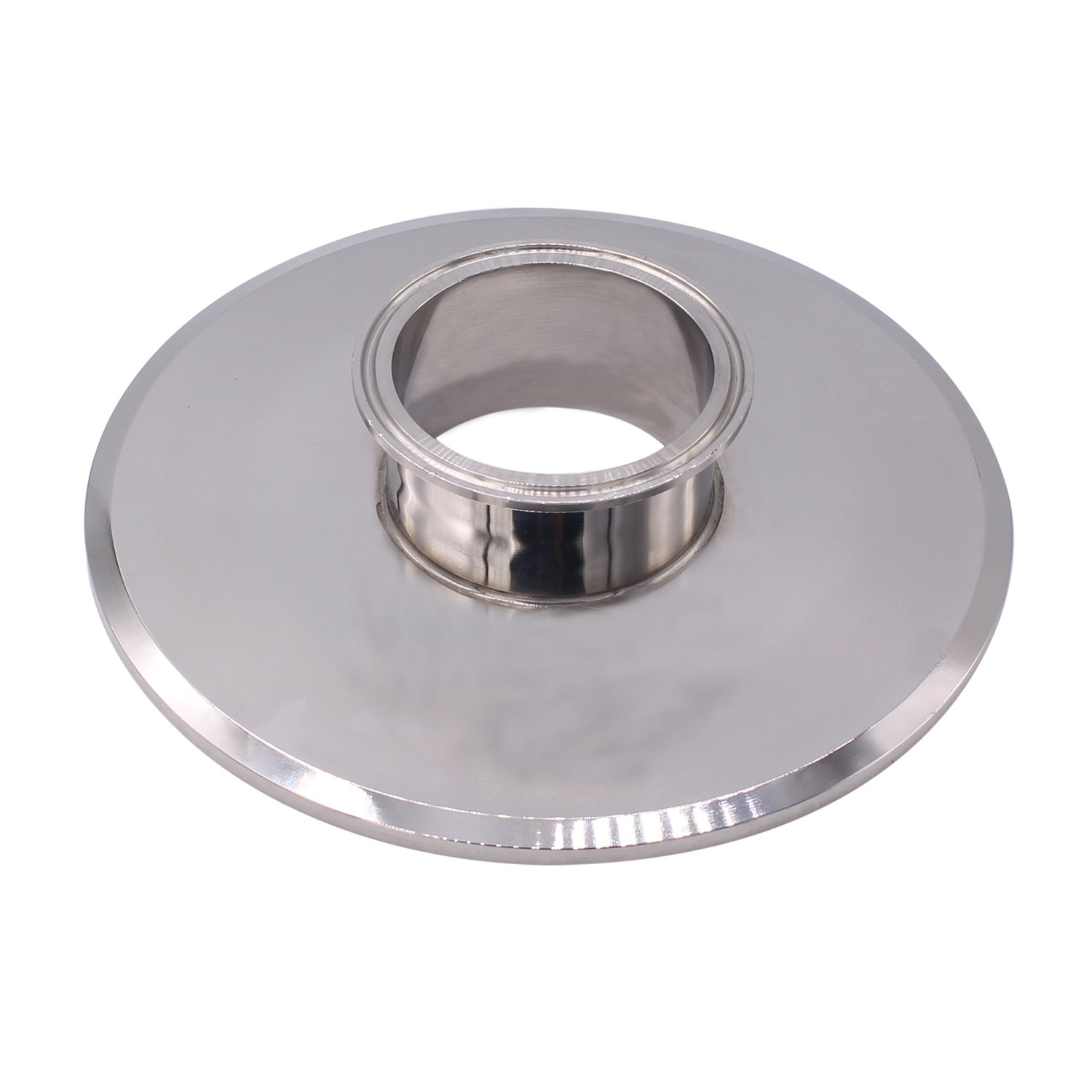 Dernord Sanitary Concentric Reducer Tri Clamp Clover Stainless Steel 304 Sanitary Fitting End Cap Reducer (Tri Clamp Size: 8 inch x 3 inch)