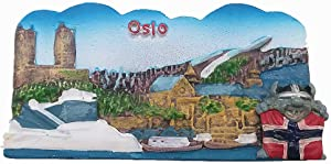 3D Oslo Norway Souvenir Fridge Magnet,Home & Kitchen Decoration polyresin Craft,Oslo Norway Refrigerator Magnet