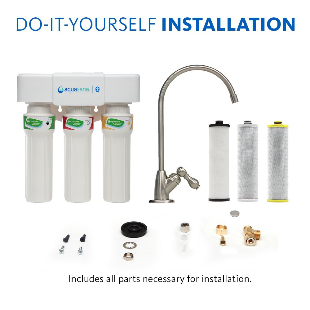 Aquasana 3-Stage Max Flow Under Sink Water Filter System with Brushed Nickel Faucet by Aquasana (Image #8)