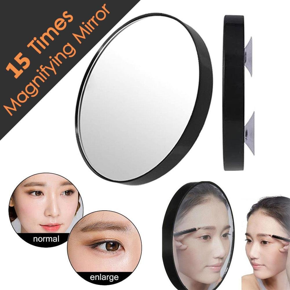 Niome 15X Times Makeup Mirror Pimples Pores Magnifying Mirror with Two Suction Cups Makeup Tools Round Mini