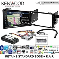 Volunteer Audio Kenwood DNX574S Double Din Radio Install Kit with GPS Navigation Apple CarPlay Android Auto Fits 2003-2005 Chevrolet Blazer, 2003-2006 Silverado, Suburban (Standard Bose)
