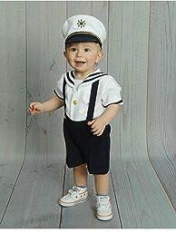 Amazon.com: Baby Toddler Boys Nautical Sailor Short Suit ...
