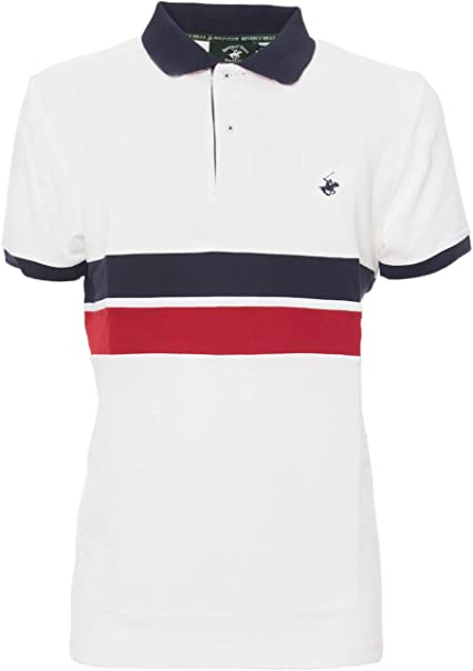 BEVERLY HILLS POLO CLUB - Camiseta - para hombre Bianco S: Amazon ...