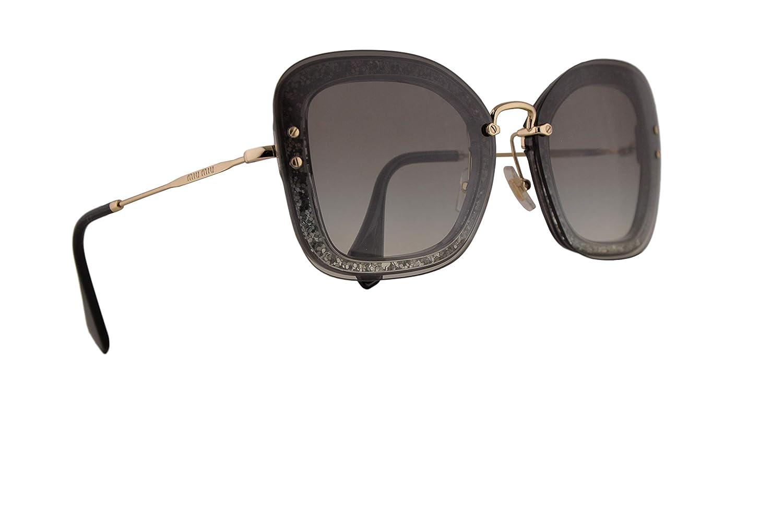Amazon.com: Miu Miu MU02TS - Gafas de sol (lentes UES0A7 MU ...