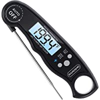 Waterproof Digital Meat Thermometers-Best Waterproof Instant Read Thermometer with Calibration and Backlight Functions - Food Thermometer for Kitchen and Outdoor Cooking