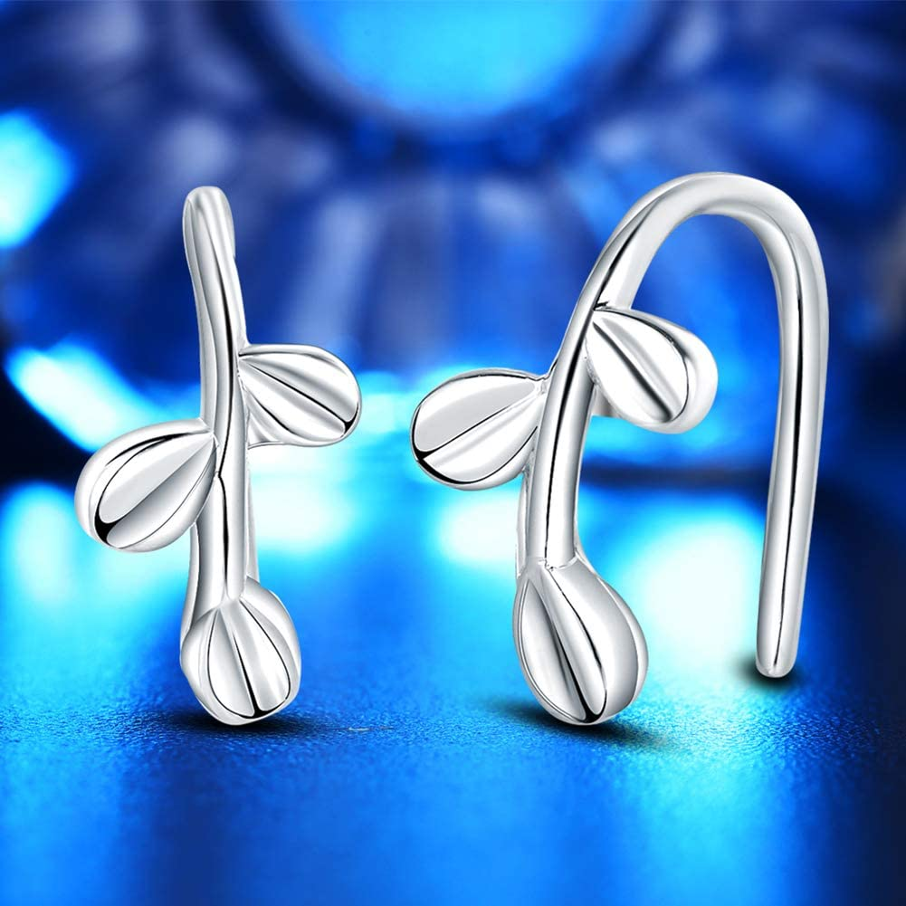 Gsdviyh36 Body Piercing Jewelry,Women Leaves Ear Clip No Piercing Cuff Earrings Jewelry Party Banquet Charm Gift Perfect a Jewelry Gift Nose Ear Lip Belly Button Decor