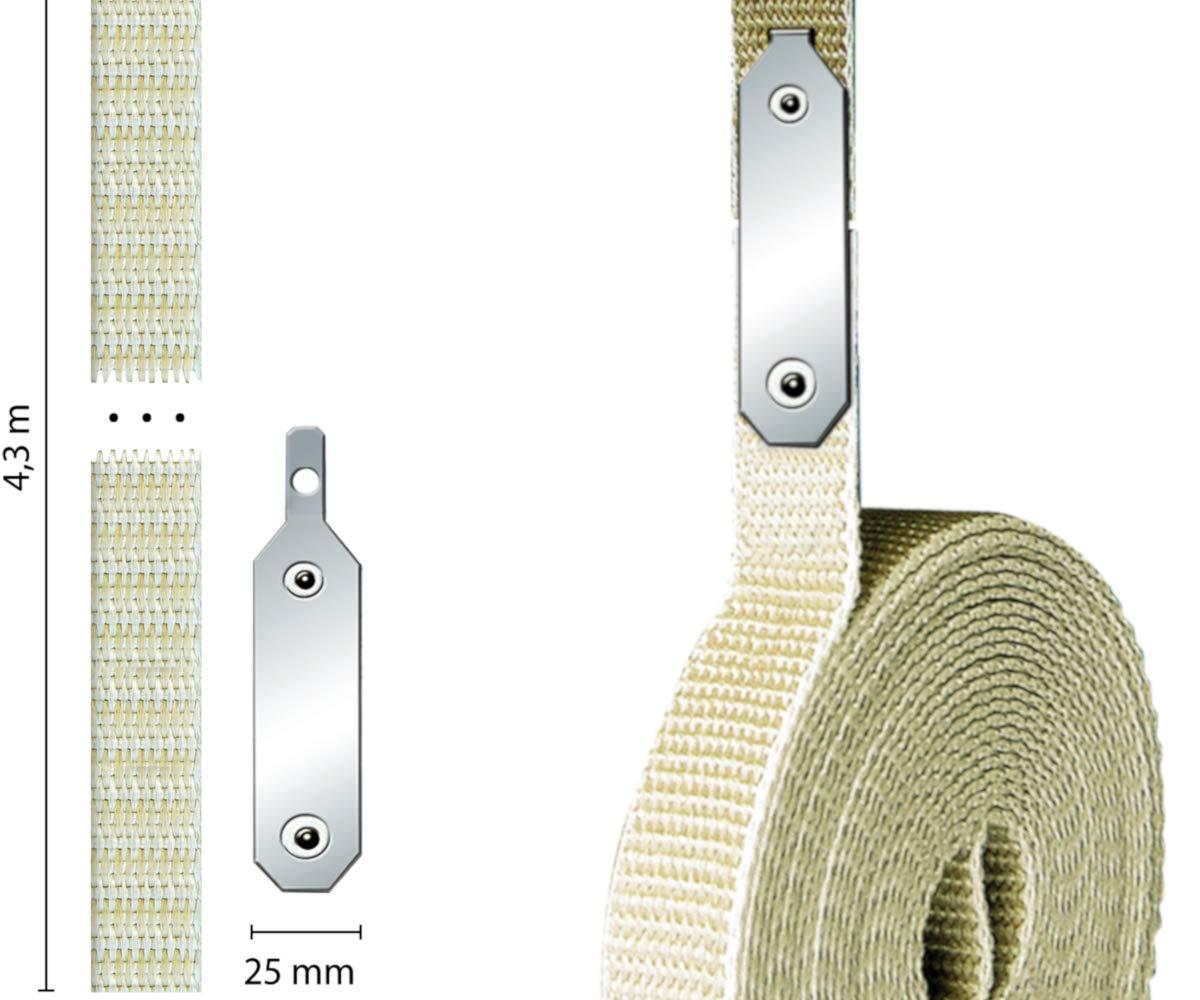 color beige Reparador para correas de persianas Schellenberg 34301 Gurtfix Maxi 23/mm//4,3 m