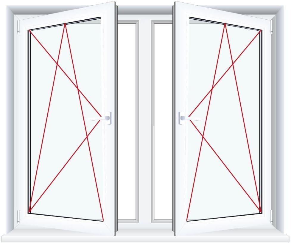 BxH:1000x1000 2-fl/ügliges Kunststofffenster//PVC//Wei/ß Dreh-Kipp//Dreh-Kipp Fenster mit Pfosten Glas:2-Fach
