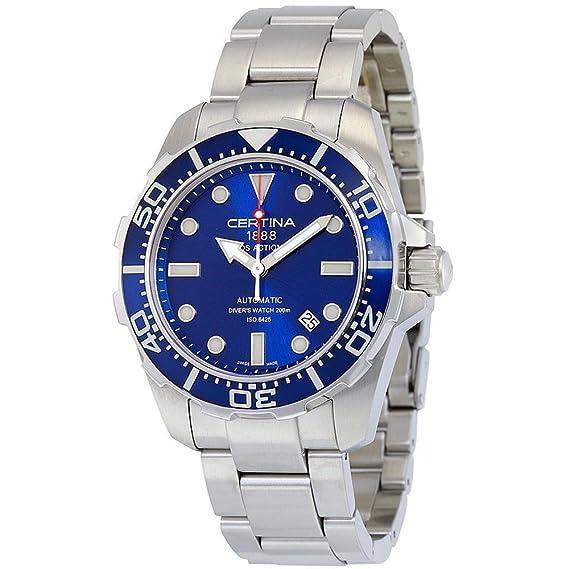 Certina DS Action Diver Reloj de Hombre automático 43.2mm C013.407.11.041.00: Amazon.es: Relojes