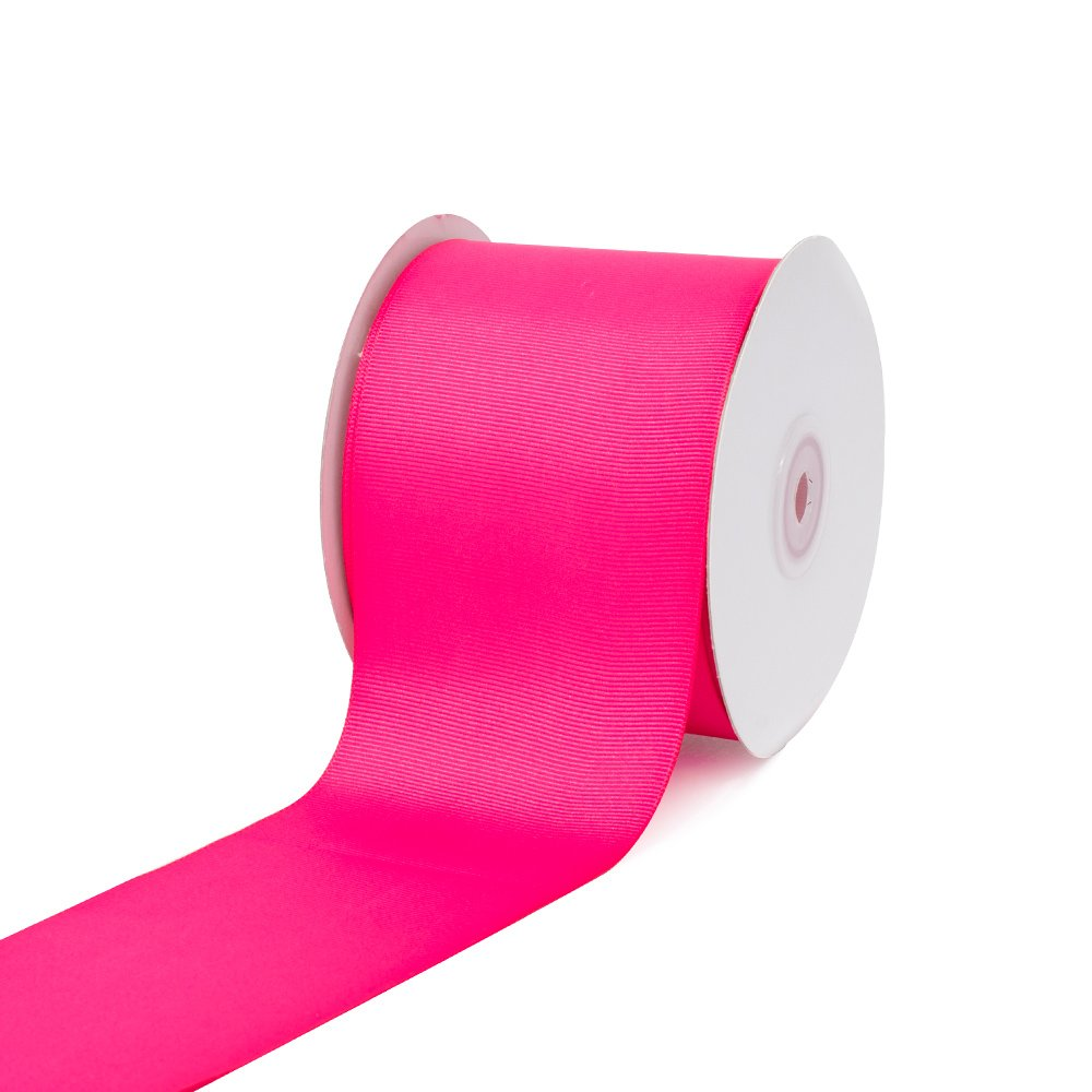 Creative Ideas 3'' Solid Grosgrain Ribbon, 25 yd, Hot Pink