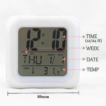 Amazon.com: Bonamana Unicorn Alarm Clock Light Nightlight Accessories-Time, Temperature, Alarm, Date, for Teenager Adults (C): Home & Kitchen