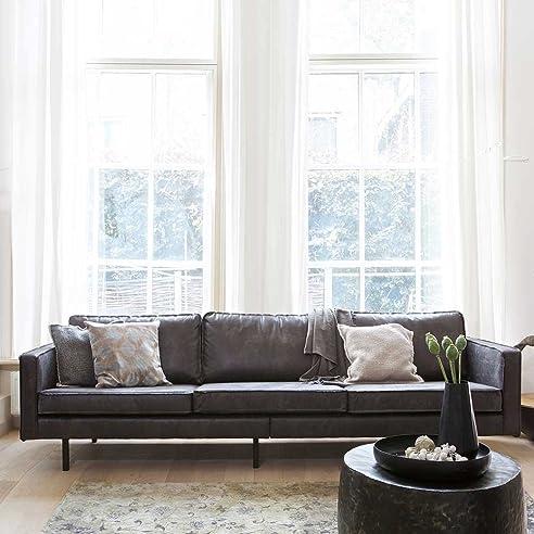 Sofa aus recycling Leder Schwarz Pharao24: Amazon.de: Küche & Haushalt