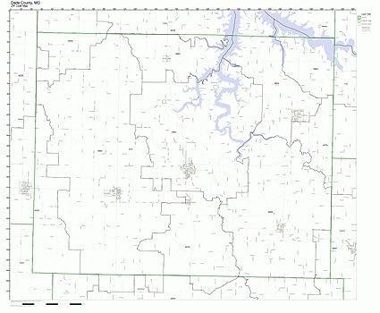 Zip Code Map Dade County.Amazon Com Dade County Missouri Mo Zip Code Map Not Laminated