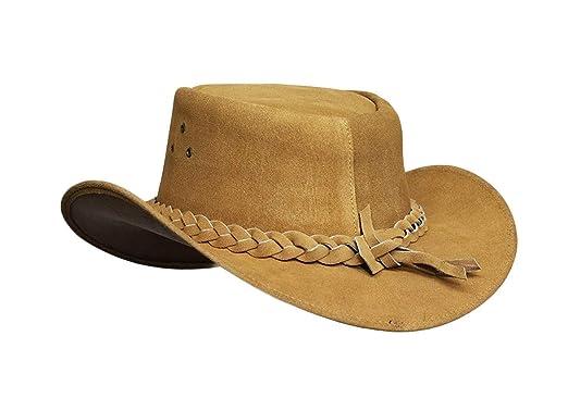 ff0549b9b88d5 Australian Leather Original Cowboy Aussie Bush Hat at Amazon Men s Clothing  store