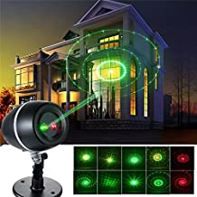 Podofo Landscape Spotlight Waterproof Indoor Outdoor Stage Laser Lights Galaxy LED Projector Lamp for Valentines Days, Party, Wedding, Night Club, Yard and Garden Decoration