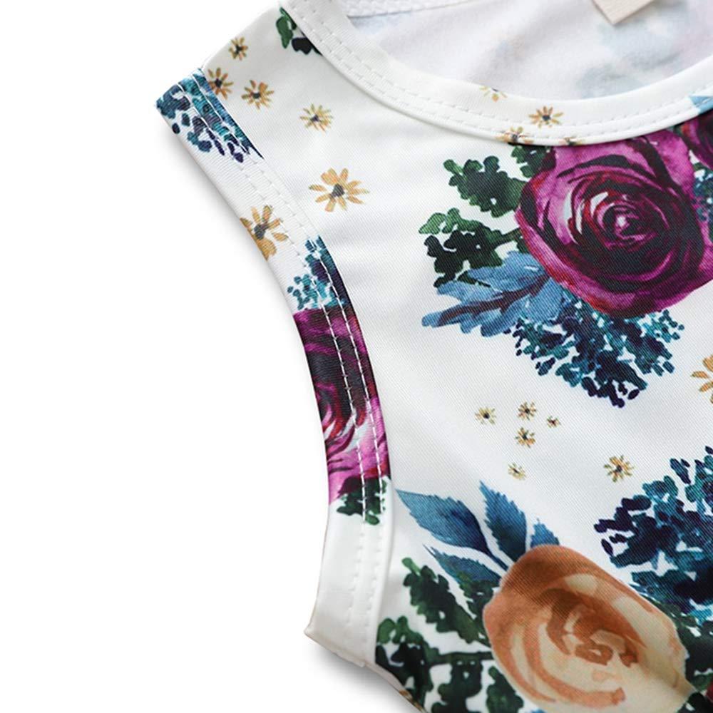 Headband 3-18M Infant Baby Girls Floral Romper Summer Jumpsuit Sleeveless Tassel Bodysuit Sunsuit