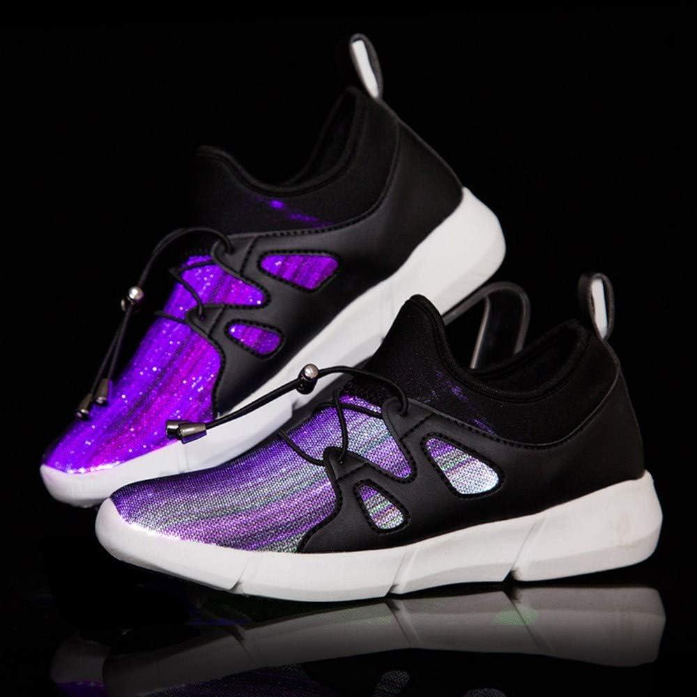 Hombres y Mujer Zapatillas Running 2019 LED Zapatillas Fitness Niña y Niño LED Zapatos para Correr Luz Luminosas 7 Colors USB Carga Zapatillas de Deporte 26-46: Amazon.es: Hogar