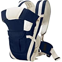 Besties Kids 4-in-1 Polycotton Adjustable Baby Carrier Sling Backpack (0-30 Months Front Carry Facing Out) (Dark Blue)