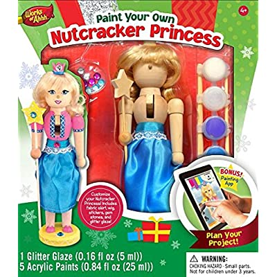 MasterPieces Works of Ahhh Nutcracker Princess Large Wood Paint Kit: Toys & Games