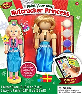 Amazon 12 unpainted blank wooden nutcracker with paint fur masterpieces works of ahhh nutcracker princess large wood paint kit solutioingenieria Image collections