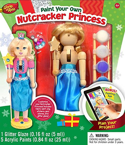 MasterPieces Works of Ahhh Nutcracker Princess Large Wood Paint Kit