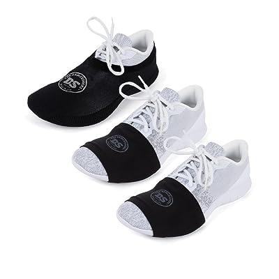 THE DANCESOCKS - Over Sneaker Socks for Dancing on Carpet (1 Pair) & Smooth Floors (2 Pairs) (Black)