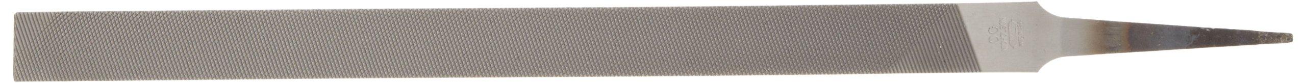Nicholson Pillar File, Swiss Pattern, Double Cut, Rectangular, 00 Coarseness, 12'' Length