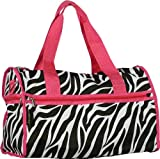 J Garden Pink Zebra Duffel Bag 19-inch