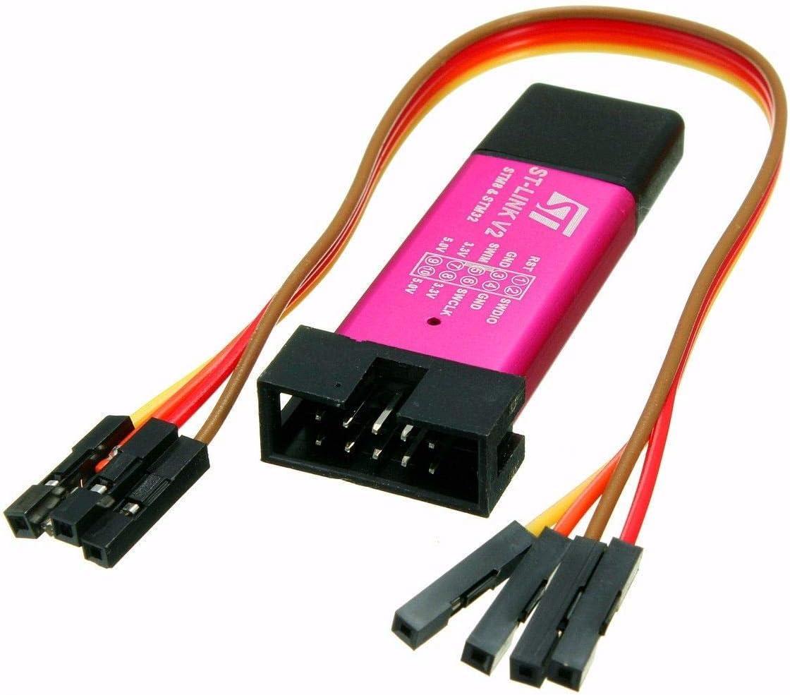 HiLetgo STM32F103C8T6 STM8 STM32 ST-Link V2 Emulator Downloader Programmer with Dupont Wires