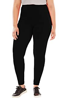 61aed7dd2bf Woman Within Women s Plus Size Stretch Cotton Capri Legging at ...