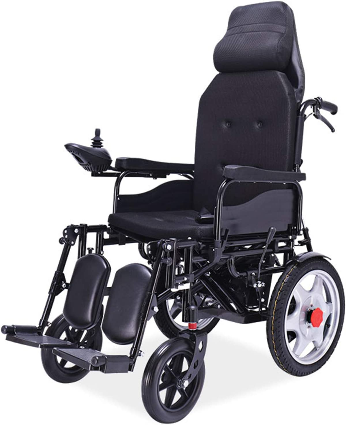 Ligero Power Plegable Wheelchair Bajo Techo, En Exteriores Batería De Litio Silla De Ruedas Minusvalidos,Marco de Aleación de Aluminio Abrir/Plegar En 1 Segundo ALGFree