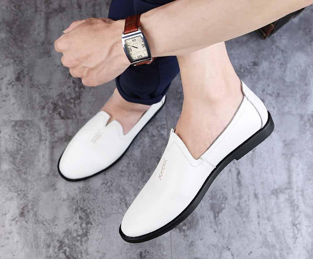 GLSHI GLSHI GLSHI Hombres Casual Mocasín Nuevo Oxford Plano Zapatos Moda Conducción Zapatos Respirable Ligero (Color : Blanco, tamaño : 43) 7cd119