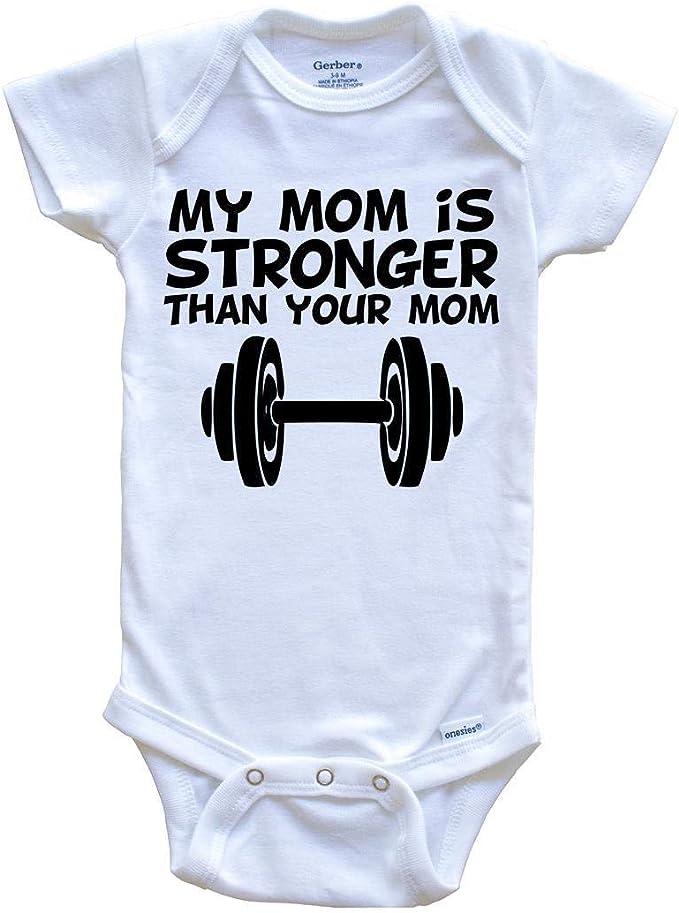 Tough Like My Mother Onesie\u00ae Funny Baby Onesie\u00aes Strong Like My Mom Onesie\u00ae Tough Baby Onesie\u00ae