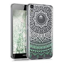 kwmobile Crystal TPU Silicone Case for Huawei Y6 (2015) in Design Indian sun mint white transparent