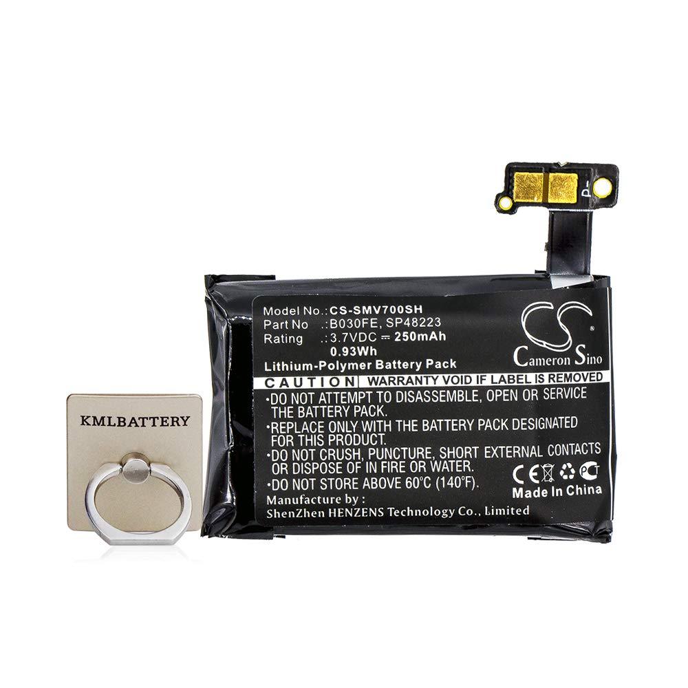 Bateria Celular Li Polymer 3.70v 250mah / 0.93wh Para Samsung B030fe Gh43 03992a Sp48223 Gear 1 Sm V700